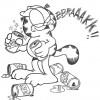 Desenhos para colorir Garfield 21