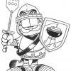 Desenhos para colorir Garfield 29