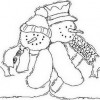 Desenho pra colorir de Natal 11