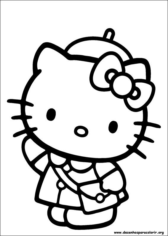 Hello Kitty para colorir 02