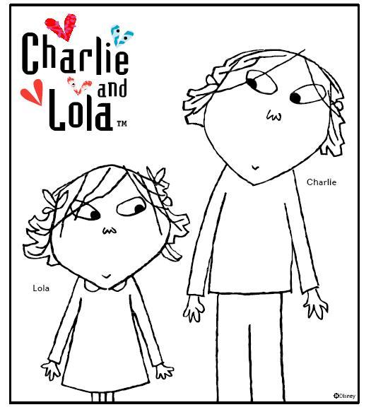Desenhos para colorir Charlie e Lola 01