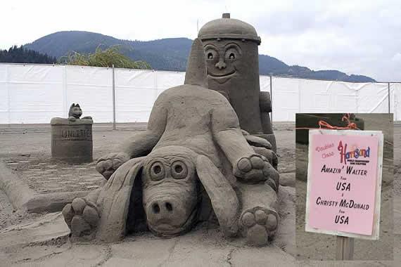 Esculturas em areia