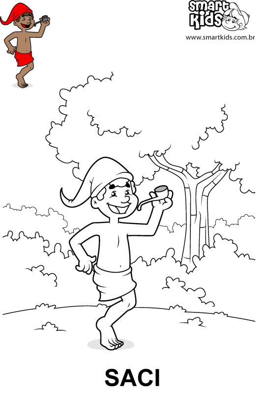Desenho para colorir Saci-pererê