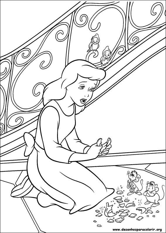 Desenho colorir Cinderela 10