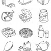 Desenhos colorir alimentos diversos 01