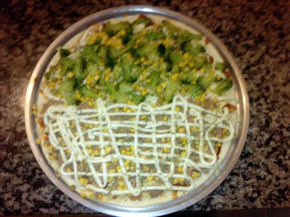 Pizza feita em casa