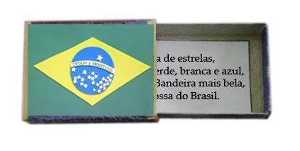 Lembrancinhas Dia da Bandeira - Caixa de fósforo