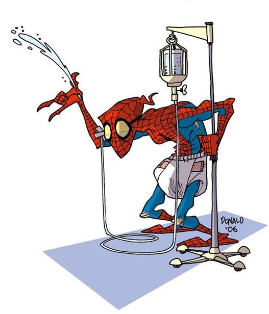 Homem-aranha velho
