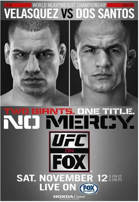 UFC Poster - Velasquez vs Cigano