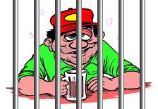 Bêbado na cadeia