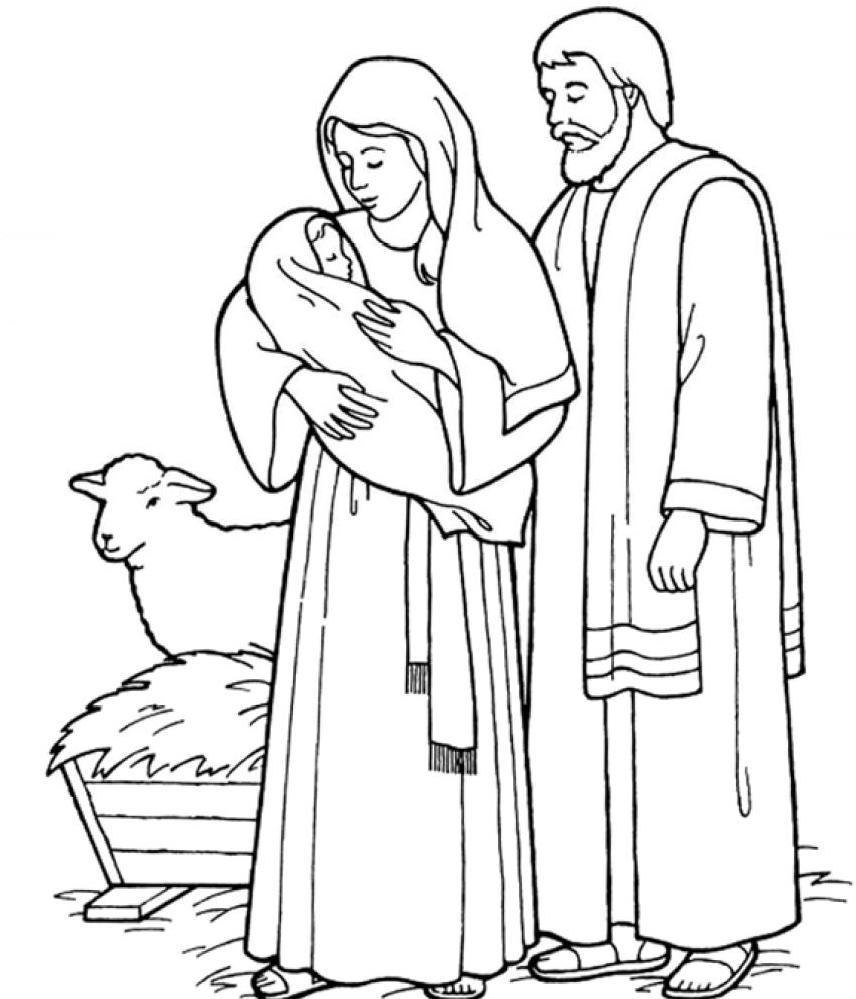 Desenhos de Natal - Presépios 01