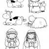 Desenhos de Natal - Presépios 02