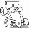 Desenhos para colori de Carros de Corrida 02