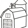 Desenhos colorir - Casas 07