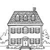 Desenhos colorir - Casas 10