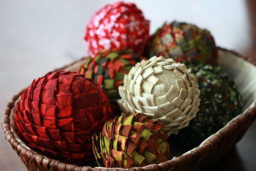 Pinhas de Natal feitas com retalhos de tecido 14