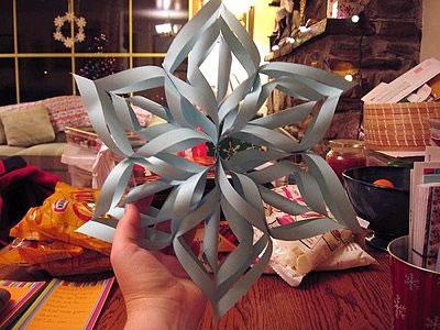Floco de Neve feito com papel