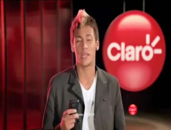 Neymar comercial pela Claro
