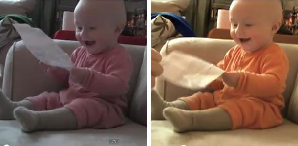 Comparação comercial bebê Itaú
