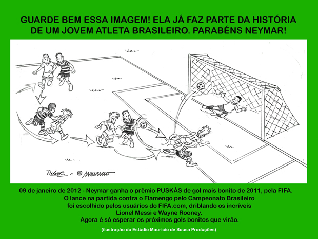 Homenagem ao Neymar por Maurício de Sousa