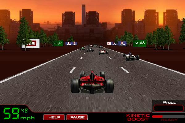Jogo de corrida Formula Racer