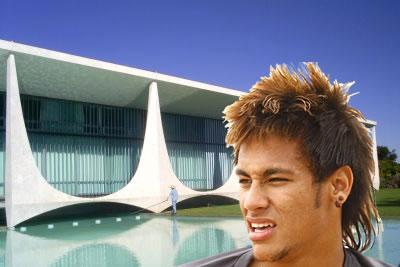 Neymar e o Palácio da Alvorada