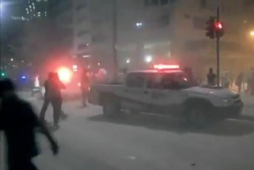 Vídeos amadores do desabamento no Rio de Janeiro
