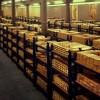 Foto das barras de ouro do Banco Central da Inglaterra 1