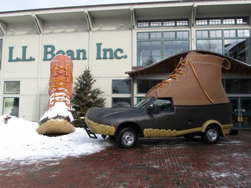 Carro L.L. Bean Bootmobile