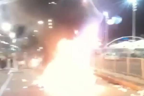 Estácio de Sá ateiam fogo