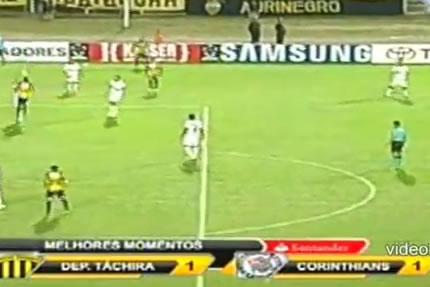 Assista aos gols de Deportivo Táchira 1 x 1 Corinthians