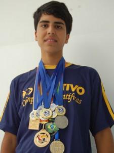Gustavo Haddad e suas medalhas