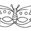 Molde de máscara de carnaval 04