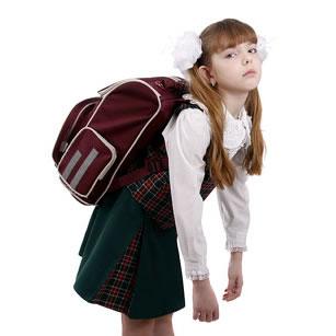 Peso em mochila escolar