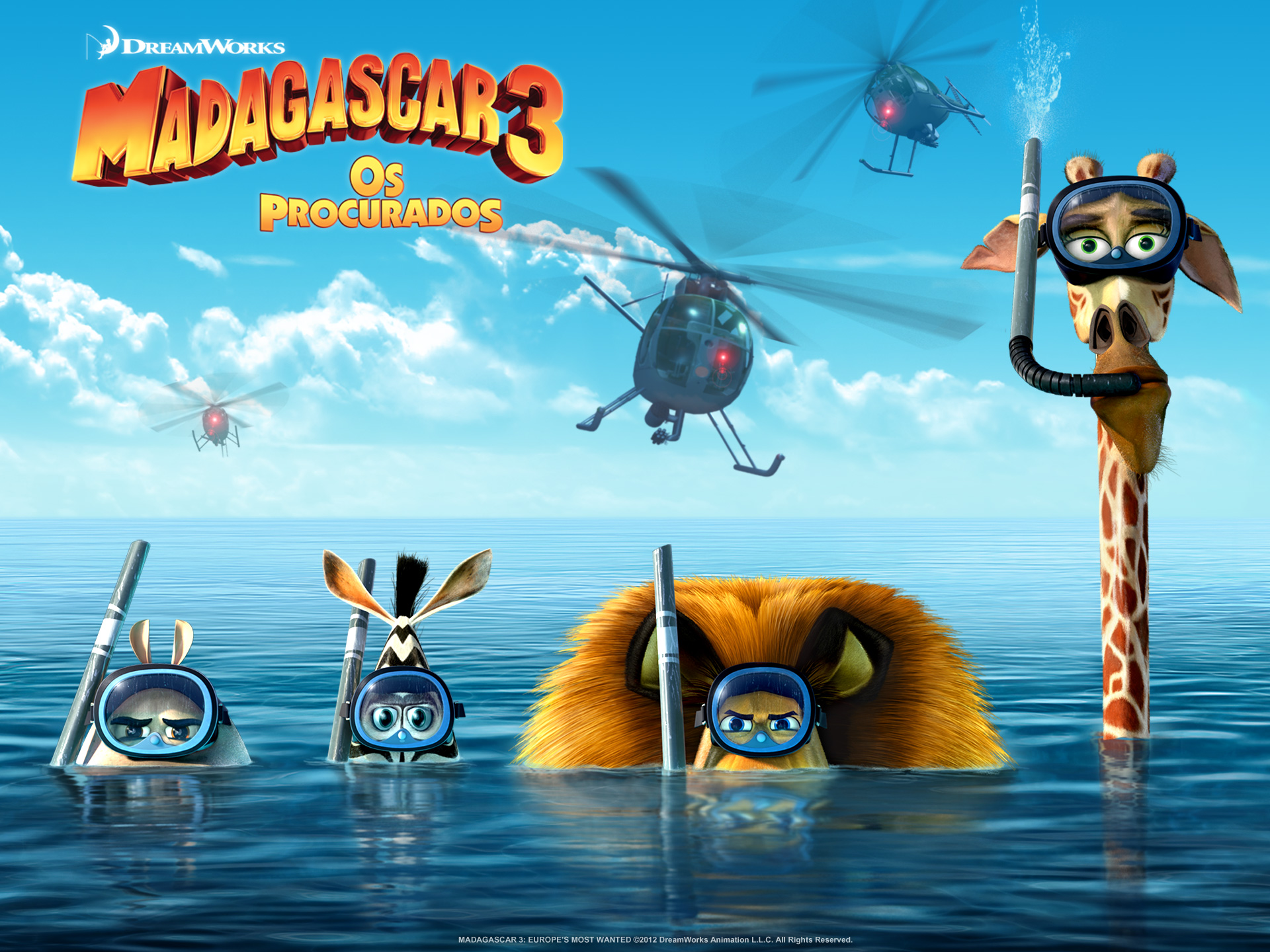 """Wallpapers de """"Madagascar 3: Os Procurados"""" 01"""
