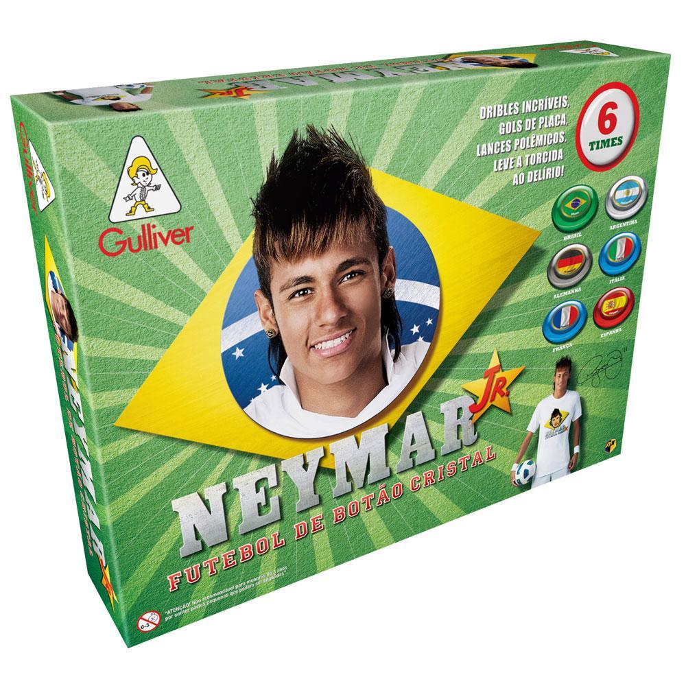 Neymar Jr. Futebol de Botão Cristal - 6 times