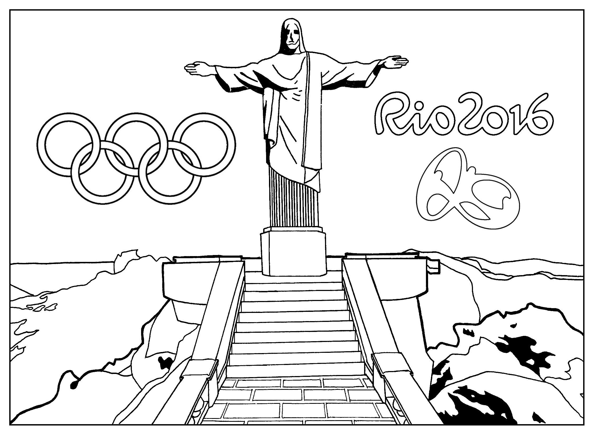 Desenho colorir Olimpíadas Rio 2016 00