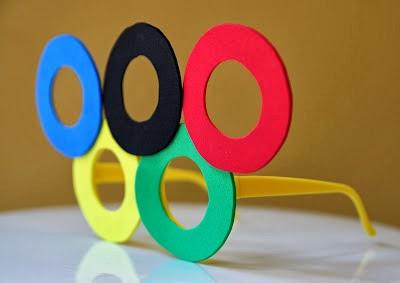 Óculos em EVA com Anéis Olímpicos - Olimpíadas Rio 2016