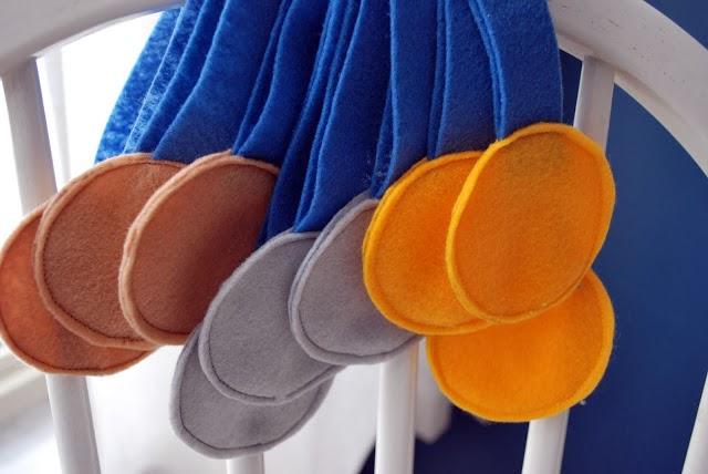 Medalhas com Feltro - Olimpíadas Rio 2016